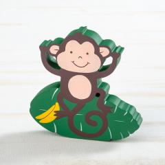 Μπομπονιέρα βάπτισης ξύλινο διακοσμητικό μαϊμού