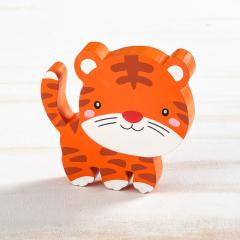 Μπομπονιέρα βάπτισης ξύλινο διακοσμητικό τίγρης