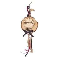 Μπομπονιέρα βάπτισης κρεμαστή με ξύλινο αερόστατο