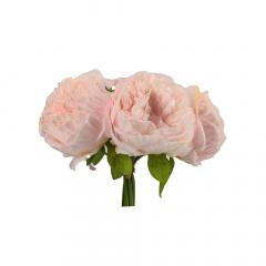Μπουκέτο παιωνίες ροζ 10x30εκ 5τεμ