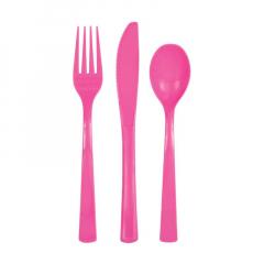 Μαχαιροπίρουνα σετ ροζ
