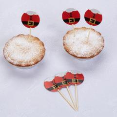 Χριστουγεννιάτικες διακοσμητικές οδοντογλυφίδες Dear Santa 20τμχ.