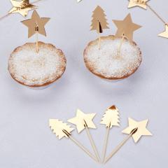 Χριστουγεννιάτικες διακοσμητικές οδοντογλυφίδες Dazzling Christmas 20τμχ.
