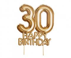 Διακοσμητικό τούρτας Happy Birthday 30
