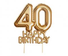 Διακοσμητικό τούρτας Happy Birthday 40