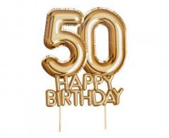 Διακοσμητικό τούρτας Happy Birthday 50