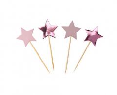 Διακοσμητικές οδοντογλυφίδες Little Star Pink 20τεμ.