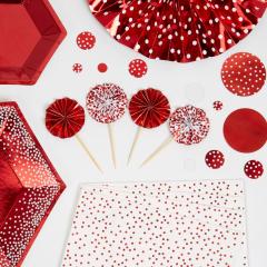 Χριστουγεννιάτικες οδοντογλυφίδες  Red & White Dots 8τμχ.