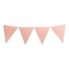Χάρτινη γιρλάντα σημαιάκια ροζ 160εκ