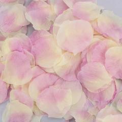 Ροδοπέταλα συνθετικά εκρού ροζ