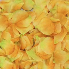 Ροδοπέταλα συνθετικά κίτρινο-πρασινο