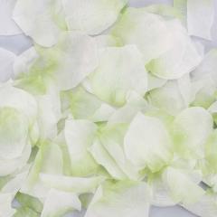 Ροδοπέταλα συνθετικά λευκό-πρασινο
