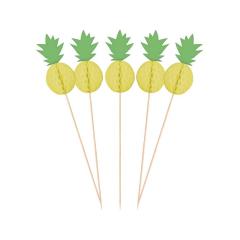 Διακοσμητικές οδοντογλυφίδες Ανανάς pineapple