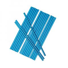 Χάρτινα καλαμάκια μπλε μεταλλιζέ