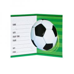 Προσκλητήριο με θέμα ποδοσφαίρου 8τμχ