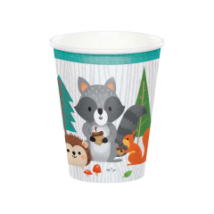 Χάρτινα ποτήρια Woodlands animals 8τεμ