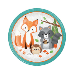 Χάρτινα πιάτα φαγητού Woodlands animals 8τεμ