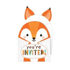Προσκλήσεις για πάρτι Woodlands animals 8τμχ