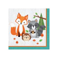 Χαρτοπετσέτες με θέμα Woodlands animals 16τεμ