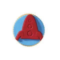 Μπισκότο ζαχαρόπαστας σε σχήμα πύραυλος