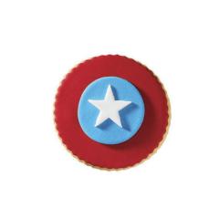 Μπισκότο ζαχαρόπαστας σε σχήμα captain america