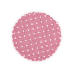 Πανάκι καραβόπανο ροζ πουά 12εκ 25τεμ