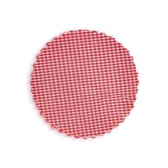 Πανάκι για βαζάκια καρό κόκκινο 12εκ 50τεμ