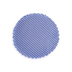 Πανάκι για βαζάκια καρό μπλε 12εκ 50τεμ