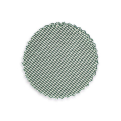 Πανάκι για βαζάκια καρό πράσινο 12εκ 50τεμ