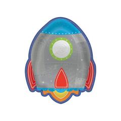 Χάρτινο πιάτο διαστημόπλοιο 17x22εκ 8τεμ