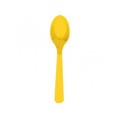 Πλαστικά κουτάλια κίτρινα 10τεμ