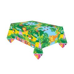 Πλαστικό τραπεζομάντηλο ζωάκια της ζούγκλας 120x180εκ