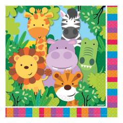 Χαρτοπετσέτα με θέμα ζωάκια της ζούγκλας 20τεμ