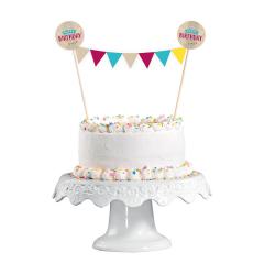 Σετ Διακόσμησης Τούρτας με Γιρλάντα My Birthday Party Kraft