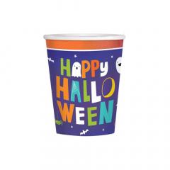 Χάρτινο ποτήρι  Halloween Friends 266ml 8τεμ