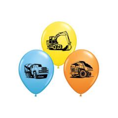 Μπαλόνια λατέξ Construction Trucks Assortment 5τεμ