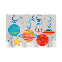 Κρεμαστά διακοσμητικά Μικρός Αστροναύτης 61εκ 12τεμ