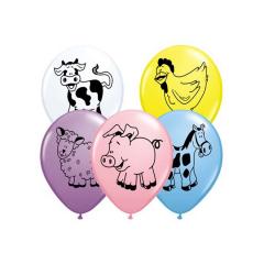 Μπαλόνια λάτεξ Ζωάκια φάρμας 28εκ 25τεμ