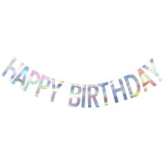Γιρλάντα Γράμματα Happy Birthday Iridescent