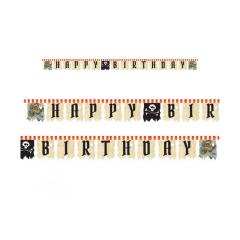 Γιρλάντα Happy Birthday Pirates Map