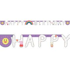 Γιρλάντα γράμματα Peppa Pig Happy Birthday 2.5 μ