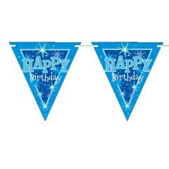 Γιρλάντα Σημαιάκια χάρτινη Birthday Blue Sparkle