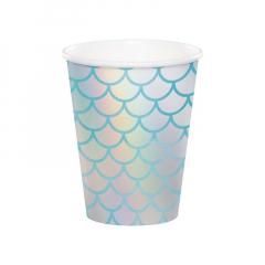 Χάρτινα ποτήρια γοργόνα ιριδίζον