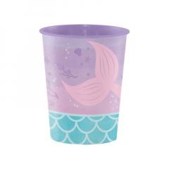 Πλαστικό ποτήρι γοργόνα ιριδίζον 1τμχ