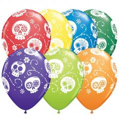 Μπαλόνια λάτεξ Sugar Skulls 5τεμ 28εκ
