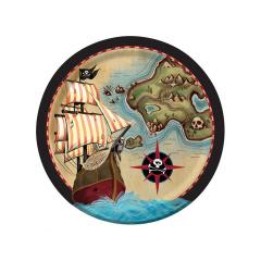 Χάρτινα πιάτα φαγητού Pirates Map 8τεμ