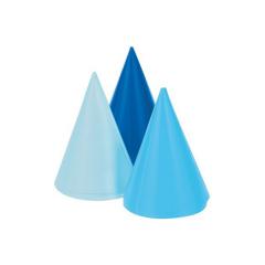 Χάρτινα καπελάκια Mini Blue 6τεμ