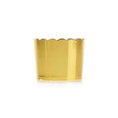Θήκες cupcake χρυσό μεταλλιζέ 10τεμ