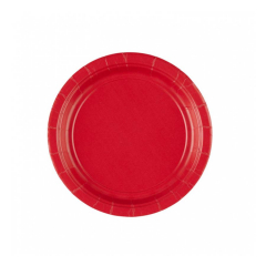 Χάρτινο πιάτο γλυκού στρογγυλό κόκκινο 20τεμ