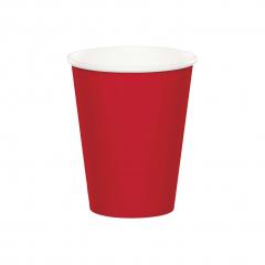 Χάρτινα ποτήρια κόκκινα 8τεμ